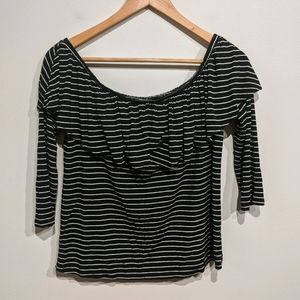 American Eagle Outfitters |Striped 3/4 Sleeve